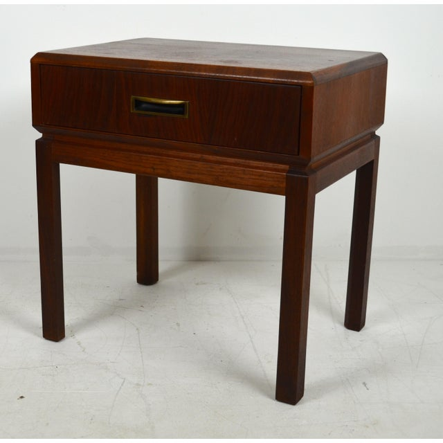 Mid-Century Modern 1960s Mid Century Modern Founders Furniture Co. Walnut Nightstand For Sale - Image 3 of 10