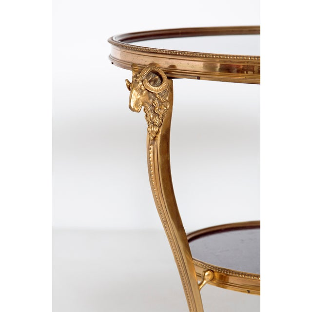 Louis XVI Style Gilt Bronze and Black Marble French Gueridon For Sale - Image 4 of 13