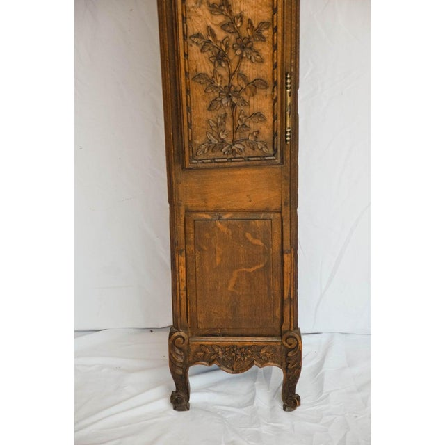 18th Century Carved 18th C French Lantern Clock Case With Movement For Sale - Image 5 of 13