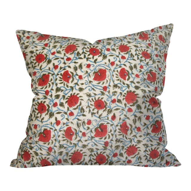 Indian Block Print Euro Pillow - Image 1 of 4