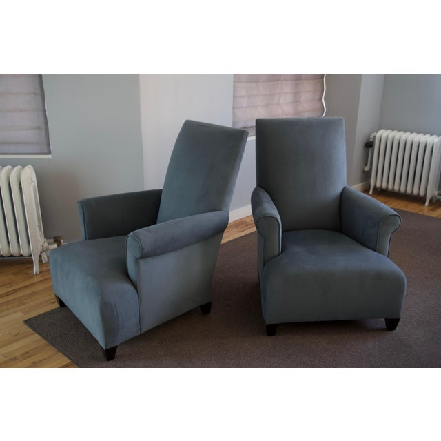 Donghia Club Chairs Set 2 For Sale - Image 10 of 13