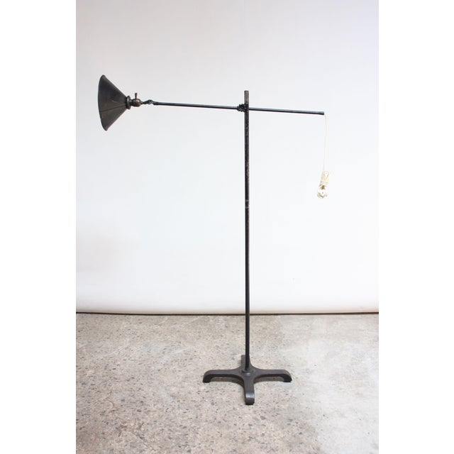 O.C. White Vintage Industrial Articulating Floor Lamp by o.c. White For Sale - Image 4 of 13