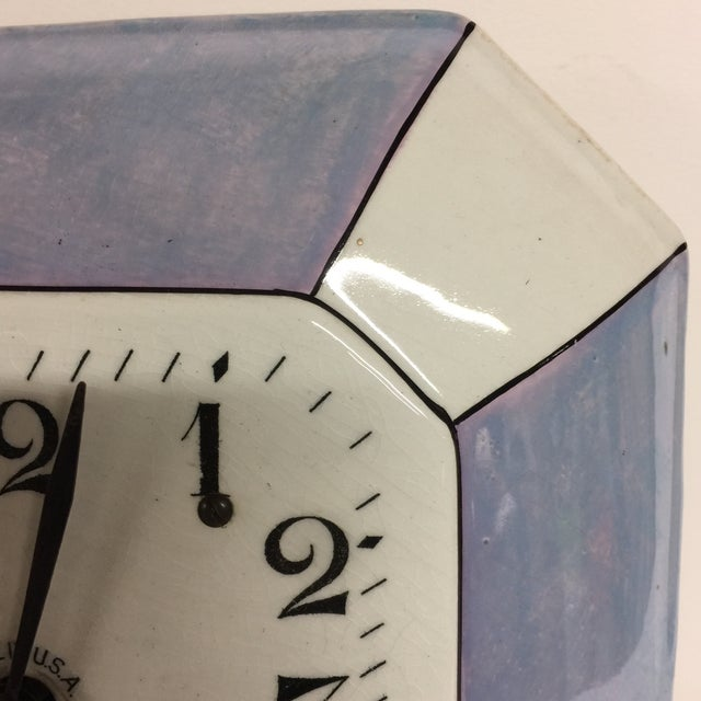 Vintage Delft Eight Day Clock Newark Clock Co. For Sale - Image 4 of 5