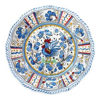 """Rooster Blue 9"""" Melamine Salad Plate, Set of 4 For Sale"""
