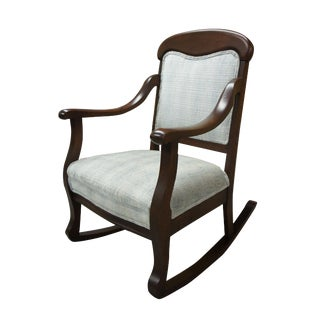 20th Century Victorian Mahogany Rocking Chair For Sale