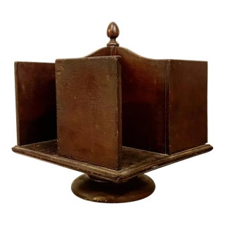 19th Century Rotating Table Top Library For Sale