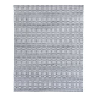Exquisite Rugs Caudry Hand Loom Wool Silver - 8'x10' For Sale