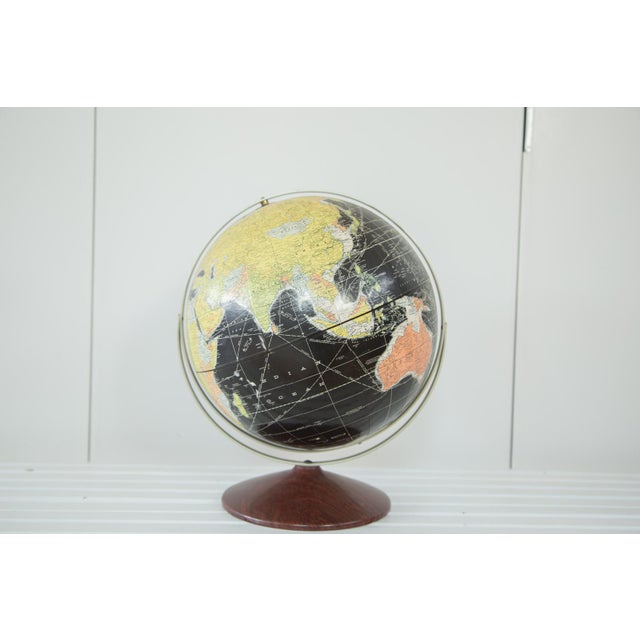 1960s Rand McNally Black Globe - Image 2 of 10