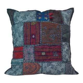 Block Print Textile Tribal Pillow