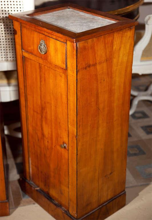 Antique Biedermeier Style Nightstands   A Pair   Image 7 Of 8