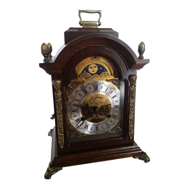 Vintage Franz Hermle Mantle Clock For Sale