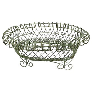 Antique French Wire Plant Holder