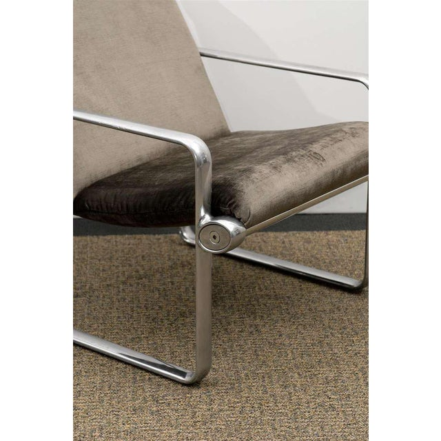 1970s Rare Pair of Aluminum Lounge Chairs by Hannah/Morrison for Knoll For Sale - Image 5 of 10