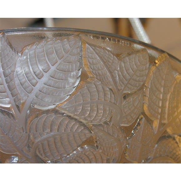 French Art Deco Chandelier by Rene Lalique For Sale In New York - Image 6 of 7
