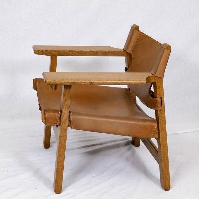 """1950s Pair of Børge Mogensen """"Spanish"""" Chairs For Sale - Image 5 of 10"""