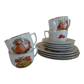 Seltmann Weiden Harvest Plates, Cups, and Saucers - Set of 4