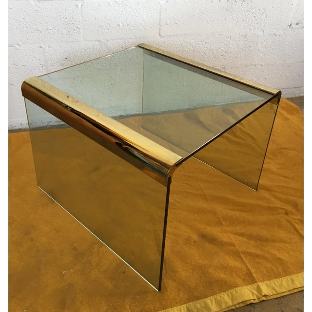 Vintage Leon Rosen Glass and Brass End Table for Pace Collection - Image 10 of 10