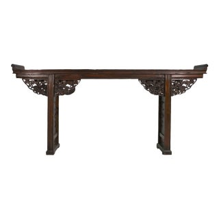 Antique Chinese Carved Alter Console Table For Sale