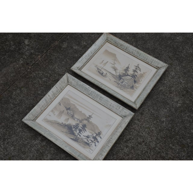 Vintage Mid-Century James Bunnell Chinoiserie Ink Prints - A Pair For Sale - Image 11 of 13