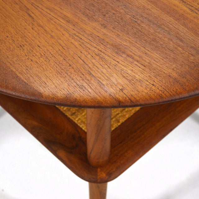 Caning Peter Hvidt/ Mølgaard-Nielsen Fd 522 Occational Table For Sale - Image 7 of 10