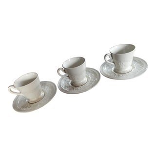 Wedgwood Patrician Espresso Cups and Saucers -- Set of 3