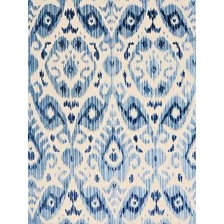 Sample, Scalamandre Tashkent Velvet, Pacific Fabric For Sale