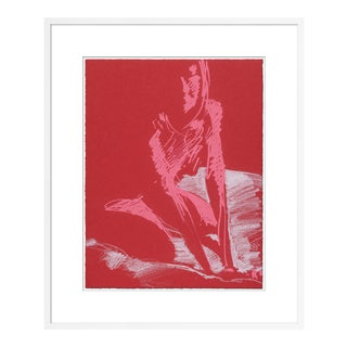 Figure 15 by David Orrin Smith in White Frame, Small Art Print For Sale