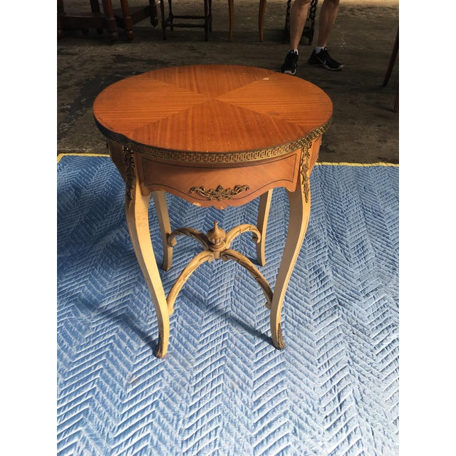 Wooden Carved Side Table For Sale - Image 4 of 4