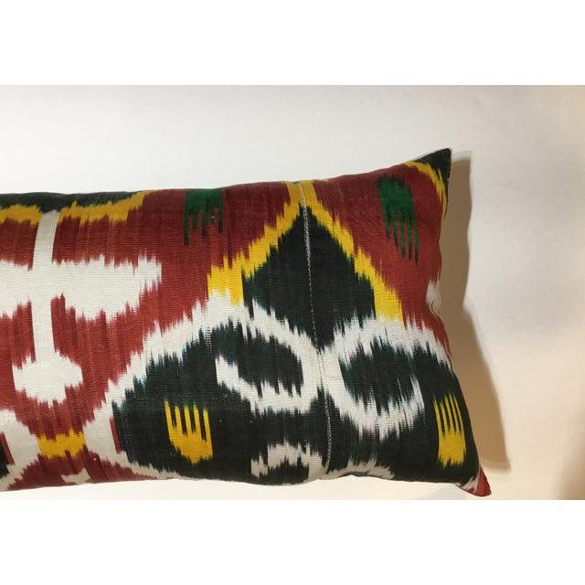 Silk Ikat Lumbar Pillows - a Pair For Sale - Image 11 of 13