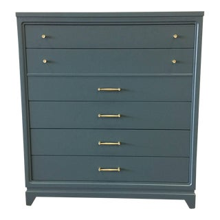 Grey Lacquer Chest of Drawers