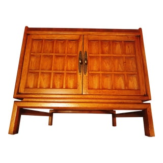 1970s Danish Modern Paine Teak Side Cabinet For Sale