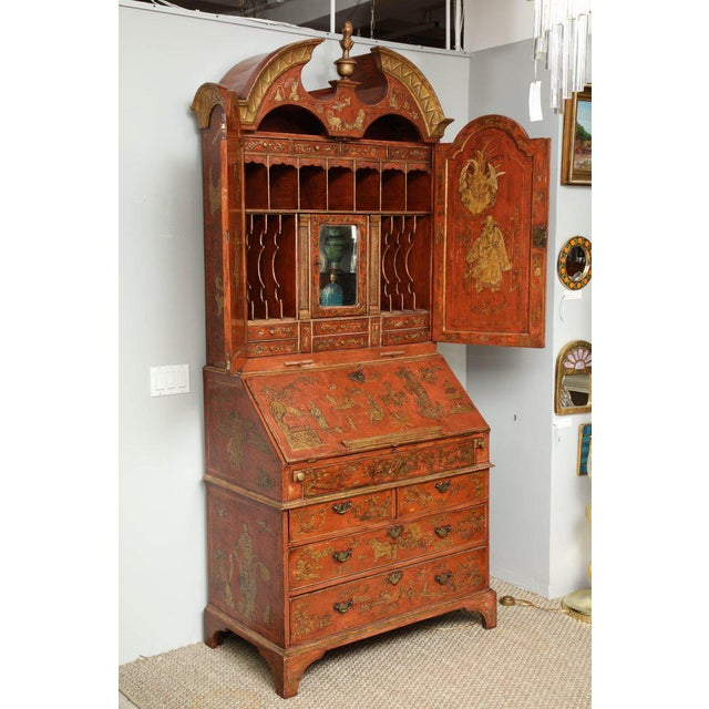 Late 18th Century Extraordinary George III Lacquered Secretary For Sale - Image 5 of 14