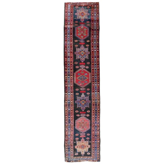 Tribal Long Gallery Size Runner Rug - 3′1″ × 17′5″ For Sale