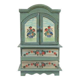 Vintage Hand Painted Mini Hutch