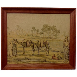 French Aubusson Silk Tapestry For Sale