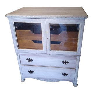 Sigh Furniture White 2 Drawer Cabinet For Sale