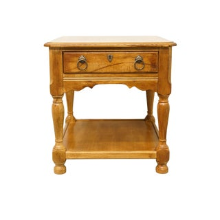 20th Century French Country Hekman Furniture End Table For Sale
