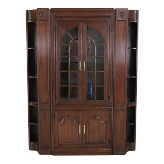 Harden Cherry Wall Unit W. Corner Cabinet Ends - 3 Piece Set