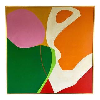 Vintage Modern Abstract Hard-Edge Painting