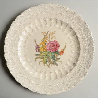 Vintage Mixed Cream Dinner Plates With Floral Centers - Set/8 Preview