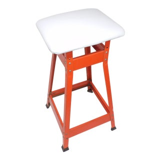 Mid-Century Modern Industrial Drafting Stool For Sale