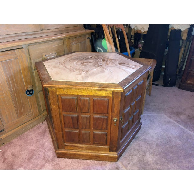 1970's Octagon Stereo Console For Sale - Image 13 of 13