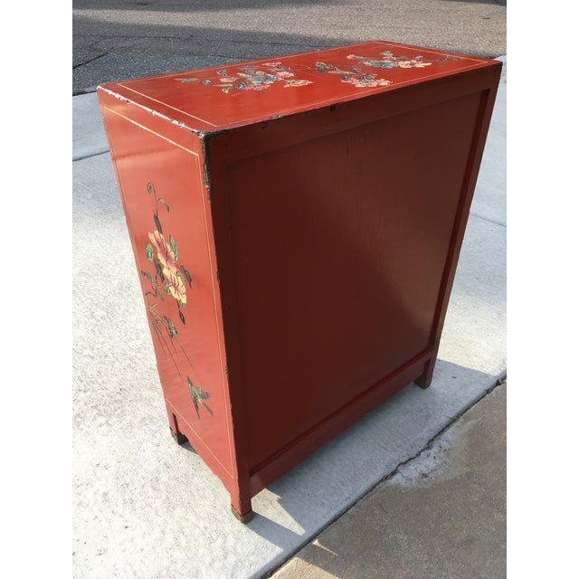 Early 20th Century Early 20th Century Chinoiserie Hand Painted Cabinet For Sale - Image 5 of 13