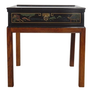 Drexel Heritage Chinoiserie Chippendale Side Table For Sale