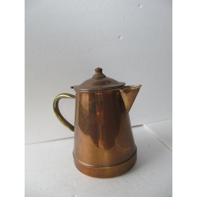 Vintage Copper & Brass Coffee Pot - Image 7 of 7