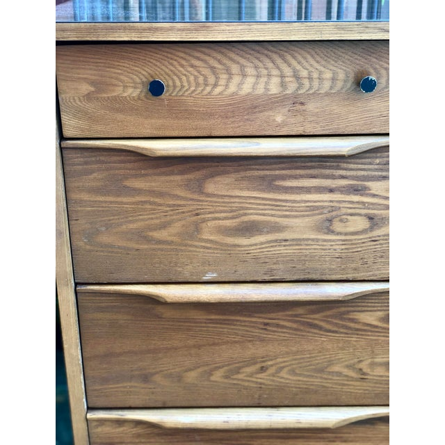 Mid-Century Modern 1960s Heywood Wakefield 5 Drawer Highboy For Sale - Image 3 of 11