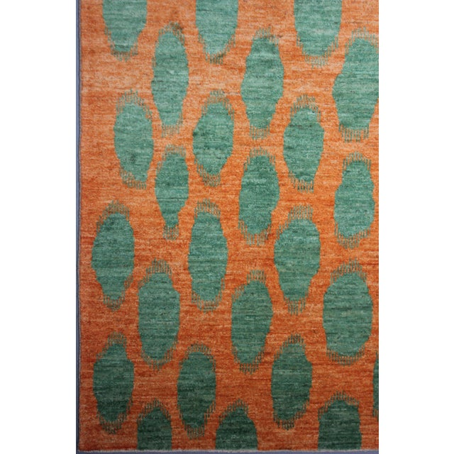 Aara Rugs Hand Knotted Modern Ikat Rug- 10′1″ × 13′3″ For Sale - Image 4 of 4