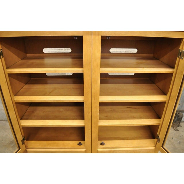 Late 20th Century Ethan Allen Elements Maple Bookcase-a Pair For Sale - Image 5 of 13