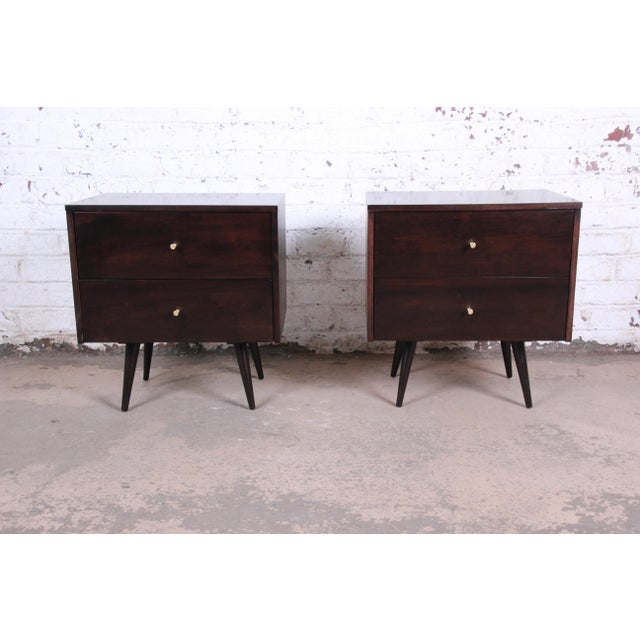 Paul McCobb Planner Group Mid-Century Modern Nightstands, Newly Refinished - a Pair For Sale - Image 13 of 13