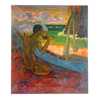 "Gauguin Original Vintage 1972 Lithograph Print ""the Poor Fisherman"", 1896"
